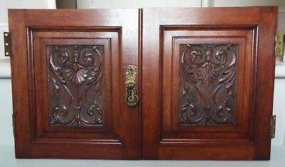 Antique Hand Carved Mahogany Doors Panels