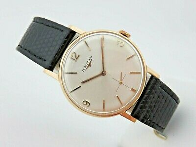 ac77393c0dbe Longines 18 KT Rose Gold 60 s Manual Winding 34 mm Caliber 302 Serviced