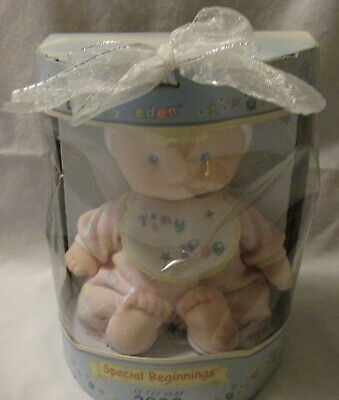 Eden Special Beginnings Tiny 2000 Baby Doll Plush Stuffed Lovey NEW Vintage