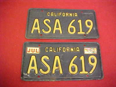 1963 California Original Pair Asa License Plate 63 Ca Automobile Vintage Plates
