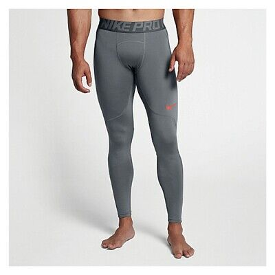 58bc9d4f95670 Nike Pro Men's Cool Grey/Hyper Crimso Hyperwarm Tights (Sz MEDIUM ) AQ4899-