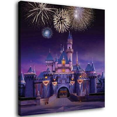Disney Castle Paintings HD Canvas Print  Home Decor room Wall Art Pictures14X14