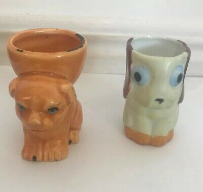 Vintage Egg Cups Dogs Made In Japan