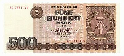 Germany DDR 500 Mark 1985 P.33 AU Note