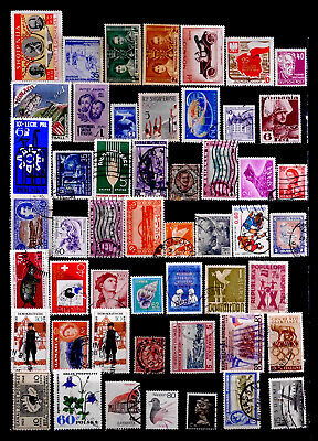 Worldwide, Europe, Asia, Americas: Stamp Collection 50 Different With Nh