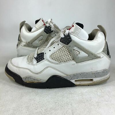 1999 Rare Nike Air Jordan 4 White Cement 136013101  Size 9  SAMPLE FTSS USED, F7
