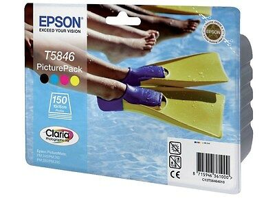 Epson Picture Pack containing T5846 Tri-Colour Photo Cartridge + Photo Paper