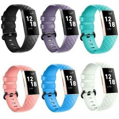 Fitbit Charge 3 Taille L Remplacement Silicone Bracelet Montres Sport Bande