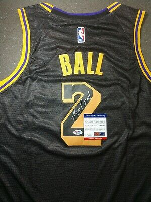 bb063dca3 Lonzo Ball Autographed Nike Wish L.A. Lakers City Edition Swingman PSA  Certified