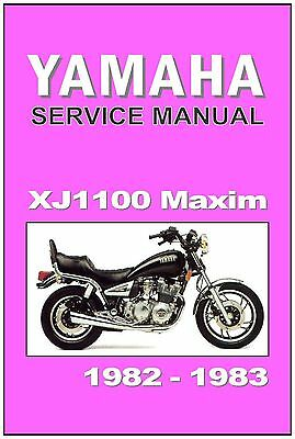 yamaha workshop manual xj1100 xj1100j maxim 1982 1983 maintenance service  repair