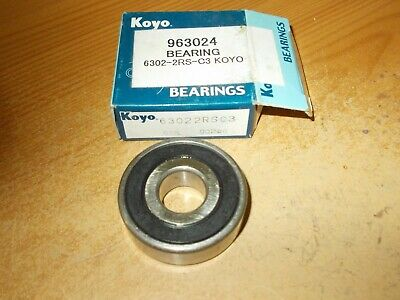KOYO Roller Bearing 6302 2Rs C3 KOYO X 2  ,FITS HOND /SUZUKI /YAMAHA/ AND OTHERS