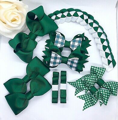 Summer School Hair Bow Set, £10 For The Set. Any Colours Available