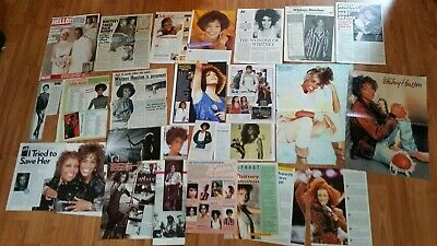 Whitney Houston magazine Clippings /Poster collection Sammlung 1984-2013