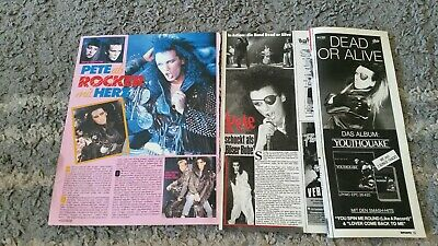 Dead or Alive / Pete Burns magazine clippings collection
