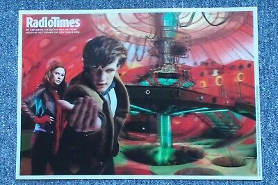 Dr Who Radio Times Lenticular Poster - The Doctor & Amy Pond in the TARDIS 2010