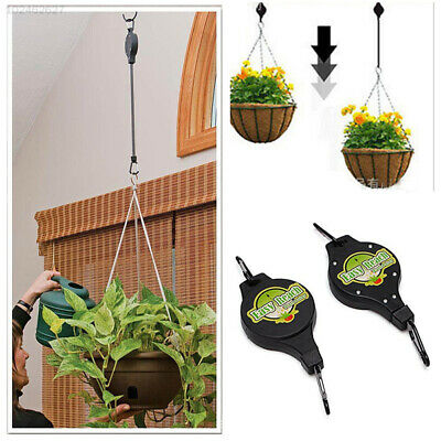 Retractable Pulley Hanging Basket Pull Down Hanger Accessories Plant Hook 8AA9