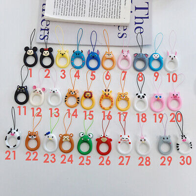 Cute Animal Anti-lost Ring Buckle Holder Strap Rope for Phones Airpods Case Lot