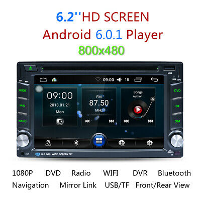 """6,2"""" Excelvan 2 DIN Android 6 WIFI HD DVD Player GPS Stereo Auto Radio Bluetooth"""