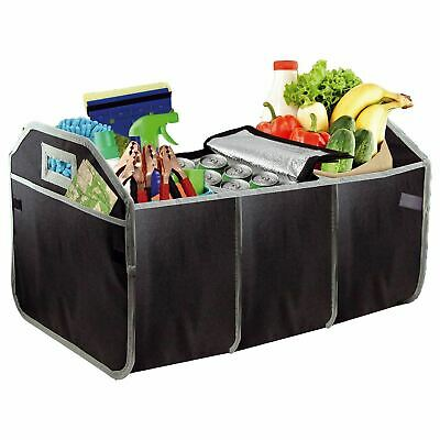 Car Boot Organiser heavy duty Foldable Shopping Tidy With Pockets, storage, New