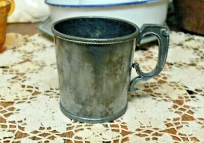 1371 Simpson Hall Miller and Co Silverplate Treble Plate Antique Cup Mug