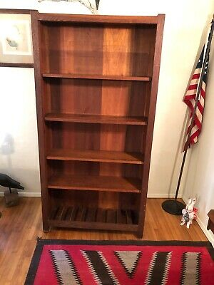 Stickley Era Arts & Crafts Mission Oak Glass Front Gun Cabinet & Bookcase