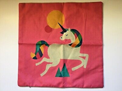 Unicorn cushion cover in candy punk  Size 43 x 43 cm approximately