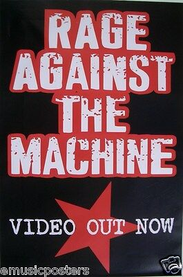 "Rage Against The Machine ""Video Out Now"" U.s. Promo Poster For Los Angeles"