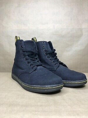 b1c45227718 DOC DR. MARTENS ALFIE Cherry Red Canvas 8 Eye Lace Up Boots ...