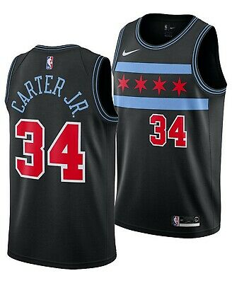 cf3806248b6 Chicago Bulls - Wendell Carter Jr Nike Black NBA Swingman Jersey - City  Edition