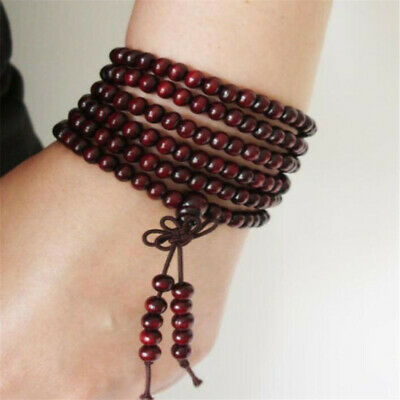 6mm Red sandalwood 108 mala bracelet Wrist yoga Wristband buddhist Bless beads