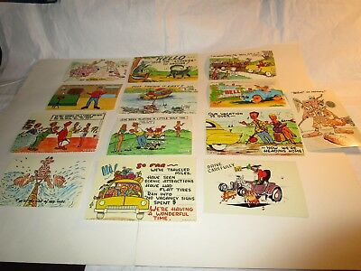 Post Cards - Vintage Humorous Postcard Lot - Set of 13 in full color $3.50 Ship
