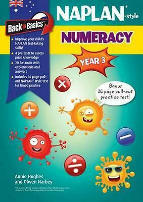 Back to Basics - Naplan-style Numeracy Year 3 by Annie Hughes Paperback Book Fre