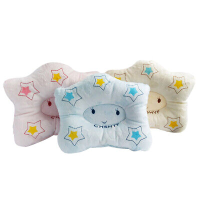 Child Newborn Infant Cot Printed Pillow Soft Correct Head Shape Cotton Support