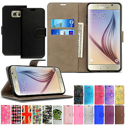Case For Samsung Galaxy S6 S6 Edge Luxury Genuine Real Leather Flip Wallet Cover