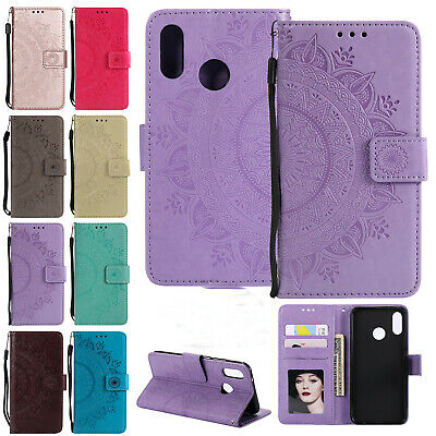 For Huawei P Smart 2019 Case Luxury Leather Magnetic Flip Card Slot Stand Cover