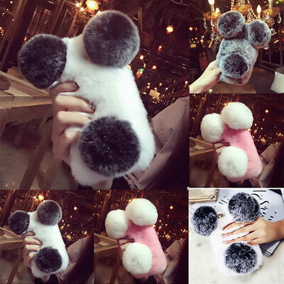 For Huawei P30 Pro Mate 20 P20 Back Case Full Faux Plush Fuzzy Fluffy Fur Cover