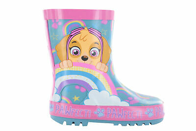 PAW PATROL WELLIES Kids Girls Novelty Wellington Boots