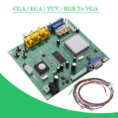 High Definition HD Video Converter Board RGB/CGA/EGA/YUV to VGA Arcade Game E1Q3