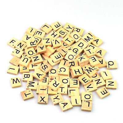200 Wooden Scrabble Letters Individual Tiles Choice Numbers For Crafts Alphabet