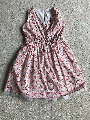 Crewcuts J Crew Girls Size 12 Pink Floral Dress Tulle V Neck