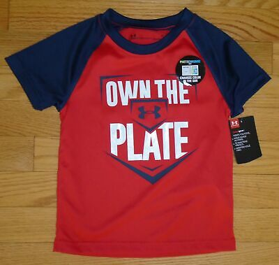 Under Armour Baby Boys T-Shirt Tee Shirt Own The Plate Toddler 2 2T NWT