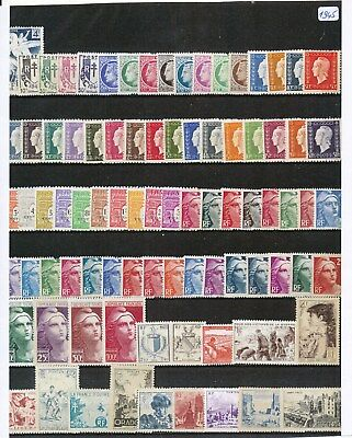 Timbres De France Annee Complete 1945 Neuf Luxe **