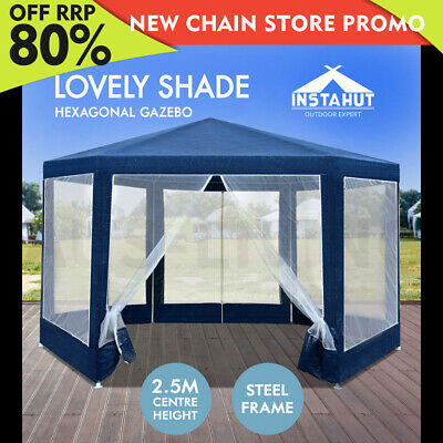 Instahut Wedding Gazebo Net Party Tent Marquee Canopy Outdoor Camping Gazebos