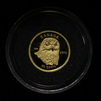 Canada 2015 50 Cents 1/25 Fine Gold Coin .99.99 % OWL