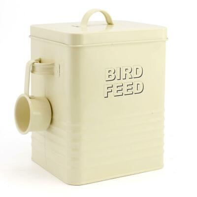 Bird Feed Storage Container In Cream By The Leonardo Collection