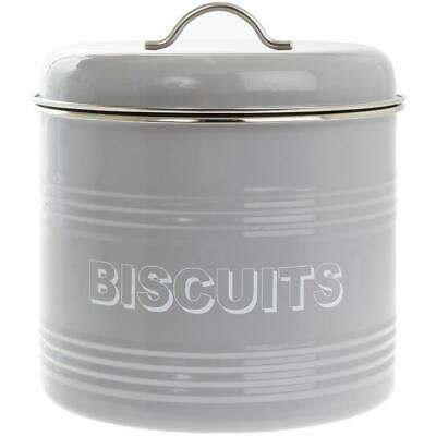 Biscuit Tin Storage Container In Grey By The Leonardo Collection