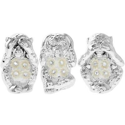 Three Wise Monkeys Mille With Diamante Detailing  Gift Boxed