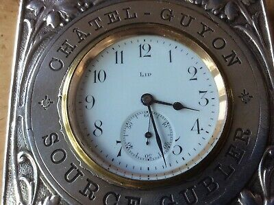 Vintage Advertising Lip Watch Desk Clock Novelty Mantle French Spa Case C1900