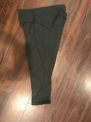94be6ddab0d747 Lululemon Athletica 8 Leggings Army Green With Pattern On Sides Pants Yoga