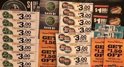 WINSTON CIGARETTE COUPON ~ 9 Coupons ~ $3 Off One Pack ~ $27